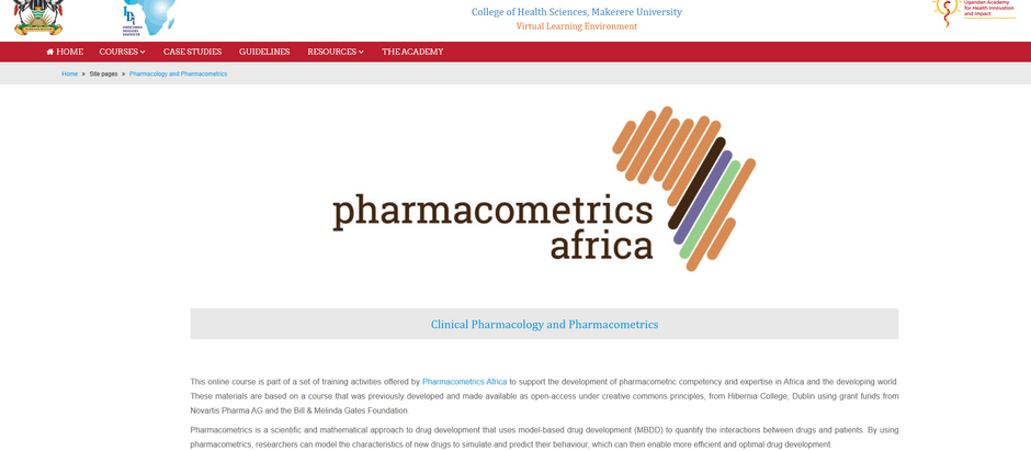 Online Clinical Pharmacology and Pharmacometrics Course - pilot program just completed