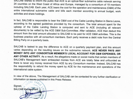 Salcab Refutes Embezzlement Allegations