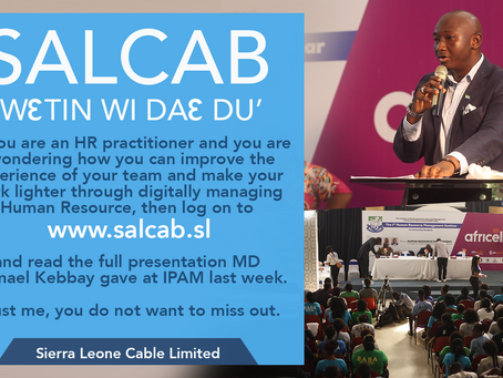 Wetin We Dae Du:  SALCAB's Managing Director  speaks at IPAM's Human Resource Summit.