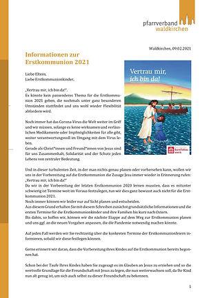 Informationen zu den Weggottesdiensten 2