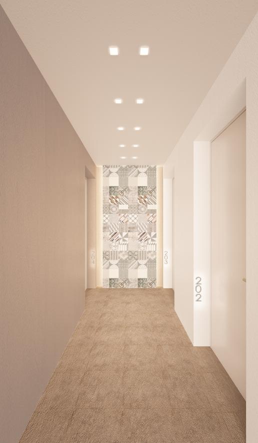 rendering corridoio