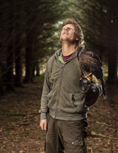 "The intense relationship between falconers and their birds is a mysteriously strong one as they work as a team- "" where's that squirrel gone "" ?"