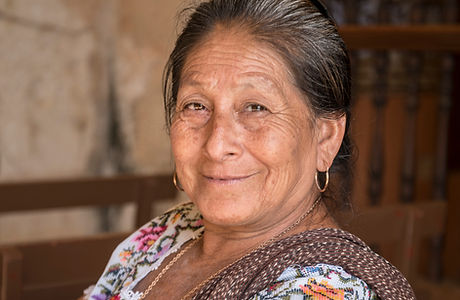Portrait of a Mayan woman in Yucatan Sin
