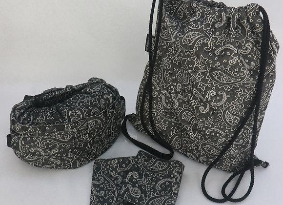 "Mochila marca Neko Slings tamaño BABY diseño ""Efes Paisley Dark"""