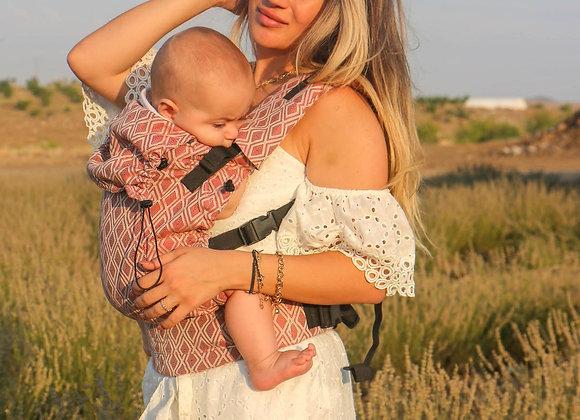 "Mochila marca Neko Slings tamaño BABY diseño ""Lycia Terracota"""