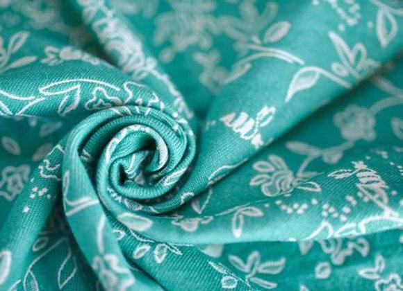 Fular tejido marca Lovaloom diseño ELYSIUM EMERALD