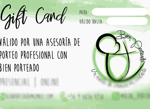 Gift card asesoria 1 hrs