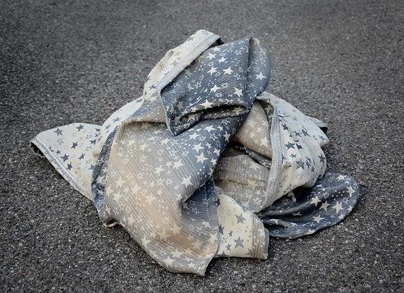 Fular tejido marca Lovaloom diseño TELESCOPE RAGGI DI LUCE