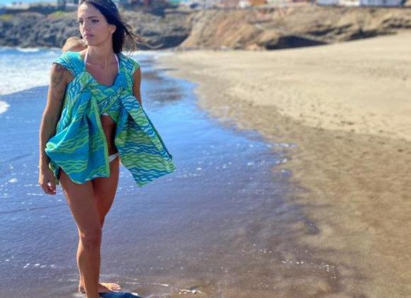 Fular tejido marca Lovaloom diseño FLOW BIG WAVE