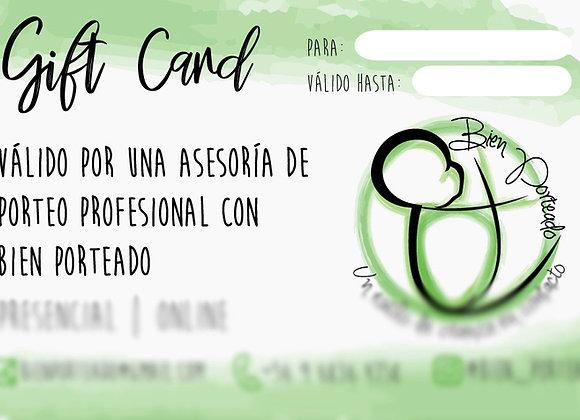 Gift card Asesoría Porteo