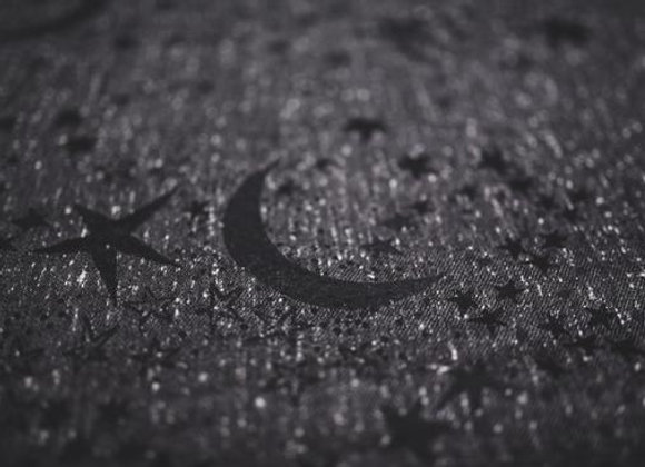 Fular tejido marca Lovaloom diseño ASTRA SERENISSIMA
