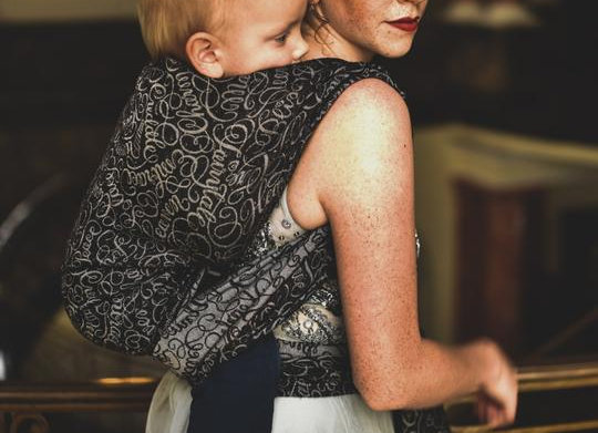 Fular tejido marca Lovaloom diseño FAVOLOSA SERENISSIMA
