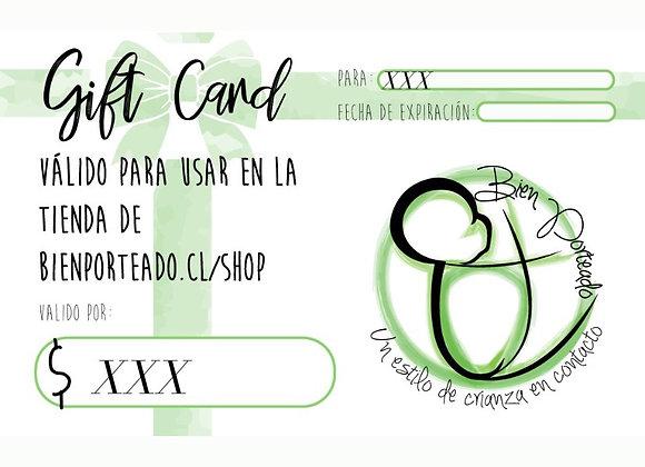 Gift card tienda Bien Porteado
