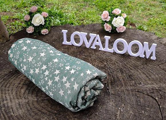 Fular tejido marca Lovaloom diseño TELESCOPIO SACRAMENTO