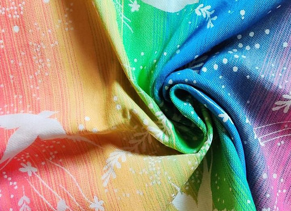 Fular tejido marca Lovaloom diseño RONDINELLA JOY BAMBOO