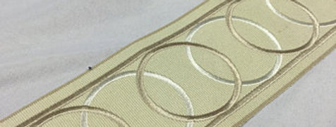 Interlocking Ivory Wide Tape Trim
