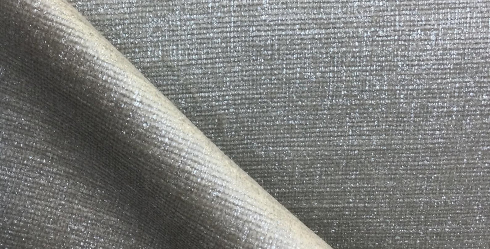 Marlon Silver - Shimmer - Upholstery Fabric - Sheen Finish - Soft Textured