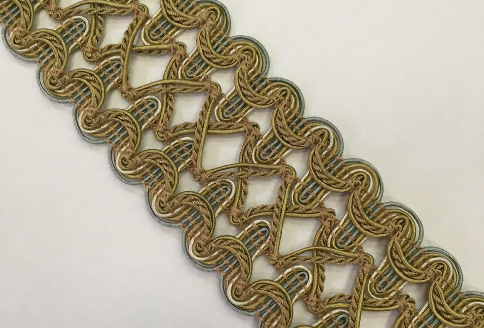 Blue and Gold Textured Braid
