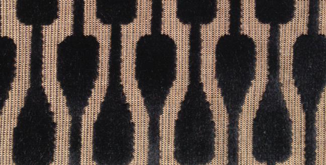Black and Cream High End Cut Velvet - Velvet Paddle Upholstery Fabric - Upholste