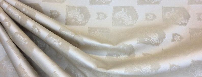 goolden Lion - golden fabric- lion print - upholstery