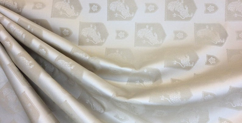 Golden Lion - golden fabric- lion print - upholstery
