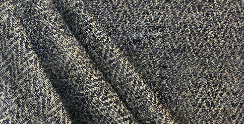 Natalie - Lakeside - Classic Batik - PKaufmann - Blue Textured Woven Fabric