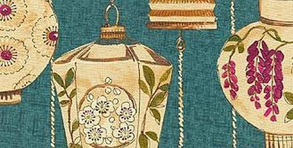 Asian Lanterns - Peacock - Chinoiserie