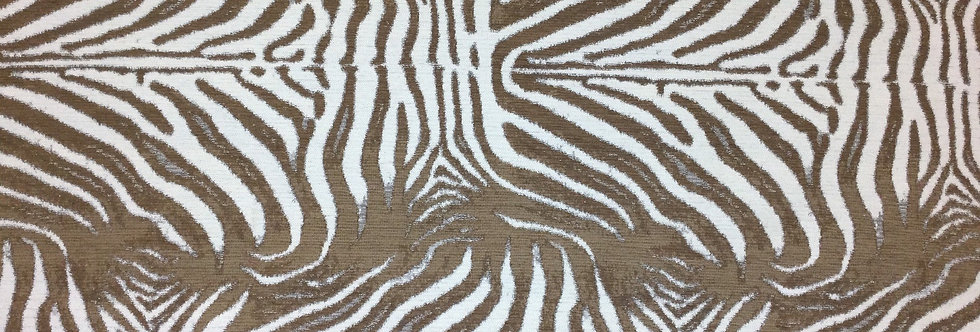 Brown and Cream - Zebra Skin - Animal Print Fabric - Brown Neutral Animal Print