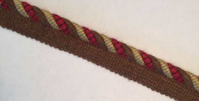 Gold - Red - Brown Lip Cord