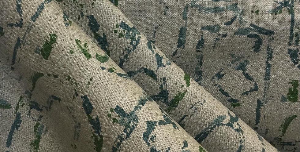 Miramar Cayman - Aqua and Oatmeal - Lacefield - Aqua and Taupe Fabric