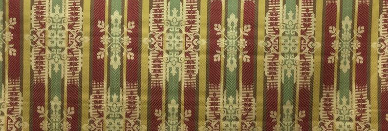 Royal Stripe - Red Green and Gold