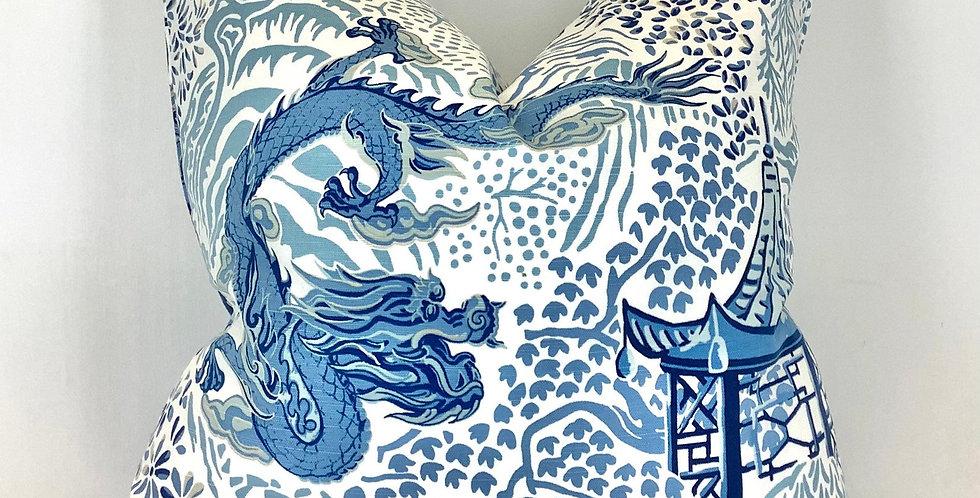 Mixed Blue Pagoda Pillow Cover