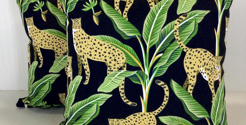 Cheetah Palm Outdoor Pillow