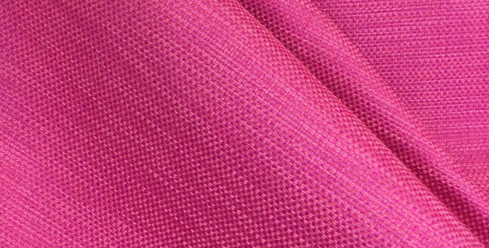 Hot Pink Solid Woven - Mingled Woven Fabric - Pink Basket Weave