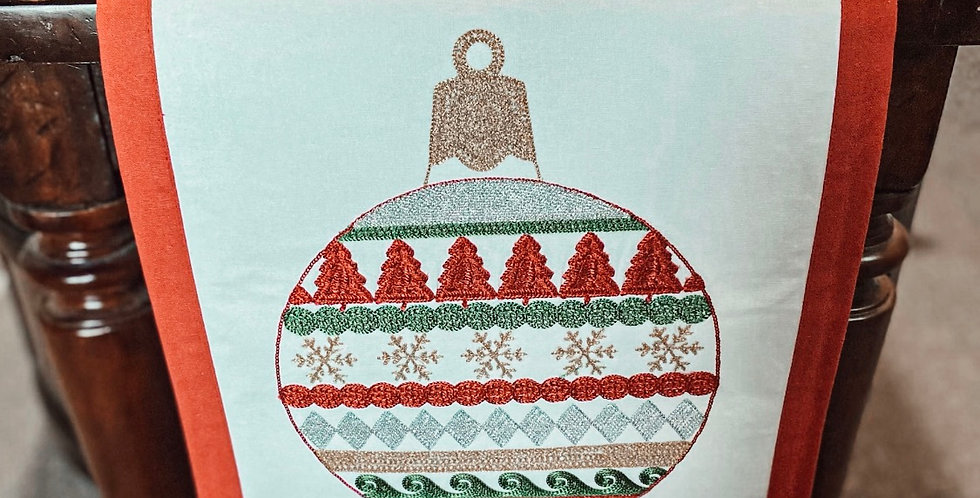 Ornament Table Runner - Christmas Decor - Home for the Holidays