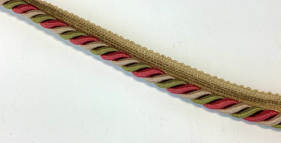 """Red Salmon - 1"""" Lip Cord - Trim by the Yard"""
