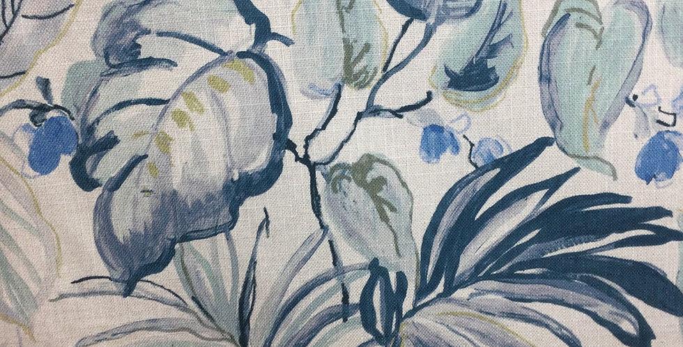 Regal - Takara Indigo - Floral Pattern Fabric - Aqua - Green - Blue - Custom