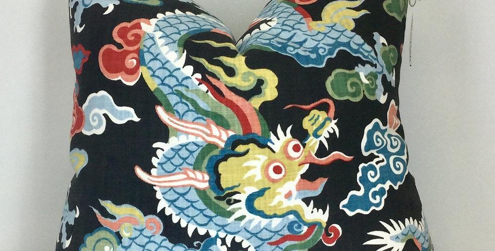 Dragon Throw Pillow - Black