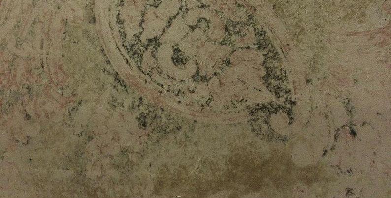 Velvet Vorto Taupe - Vintage Look - Boho - Victorian - Velvet Paisley Fabric - D