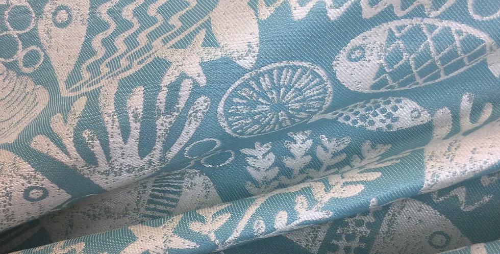 SD- Aquarium - Aquamarine - Outdoor Fabric - Patio Cushion - Upholstery
