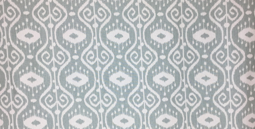 Distressed Aqua Ikat