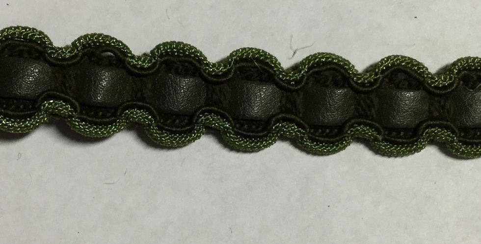 Olive Green Braided Trim