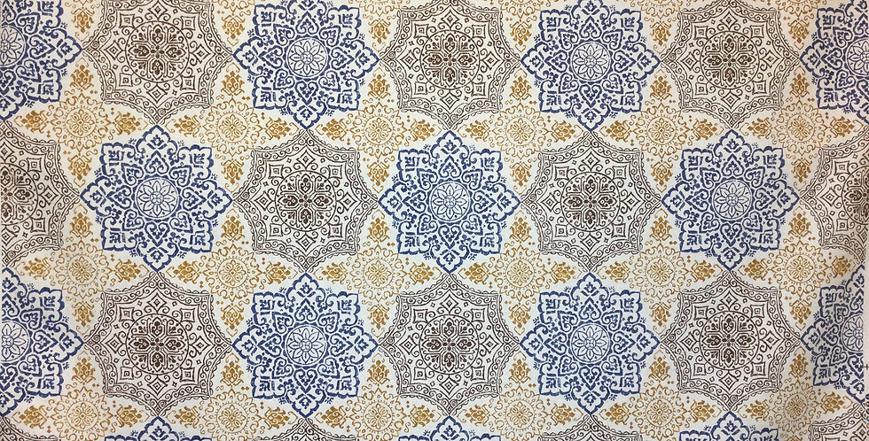 Richloom - Geo Medallions - gold - brown - blue