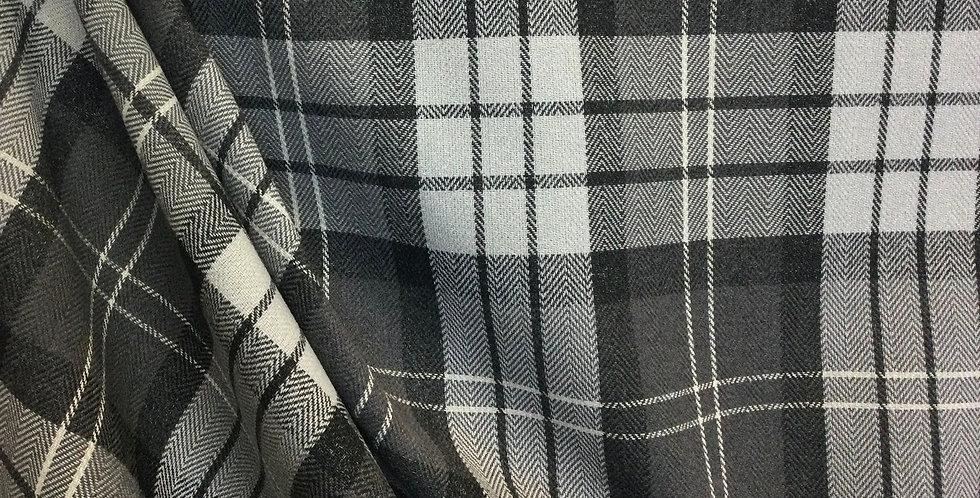 Polo Gray - Check Fabric - Neutral Check Pattern - Plaid Fabric