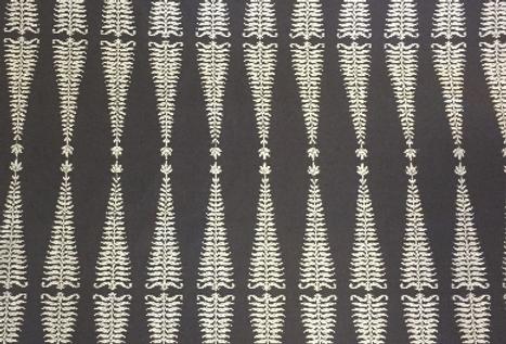 Slate Gray - Fern Embroidery