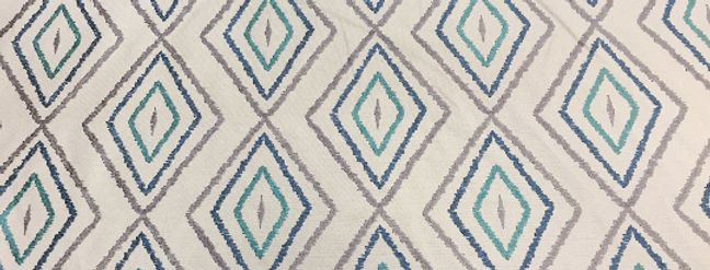 Blue - Gray Embroidered Diamond
