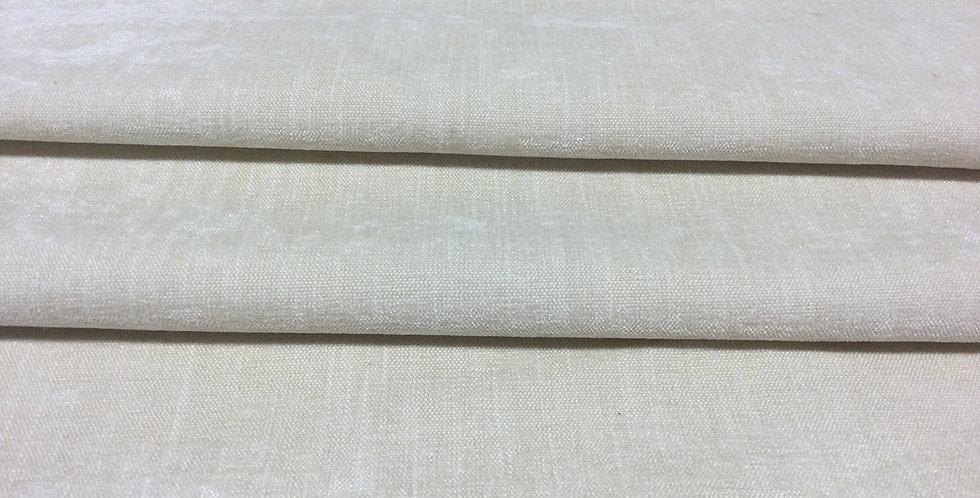 Alabaster Velvet - Off White Velvet - Soft Texture Velvet - Solid Off White