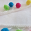 Thumbnail: Soft Multicolor Ball Fringe - White