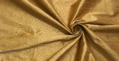Golden 100% Silk Dupioni