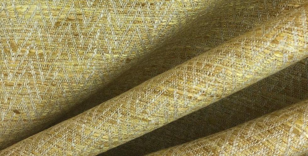 Natalie - Sunshine - Yellow Gold - Textured Upholstery Fabric - Woven Texture